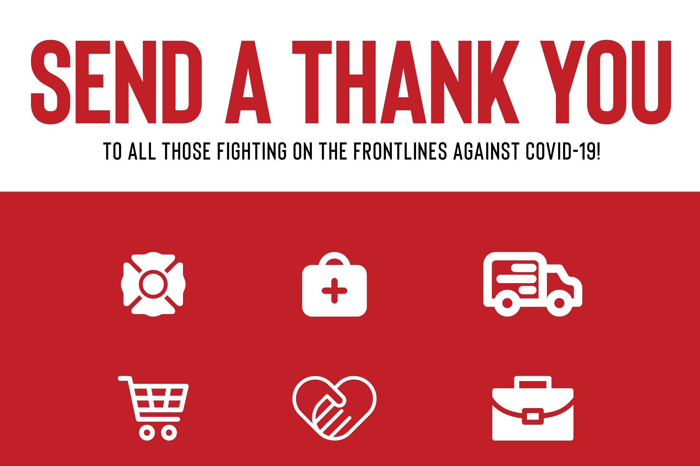 Send a thank you graphic